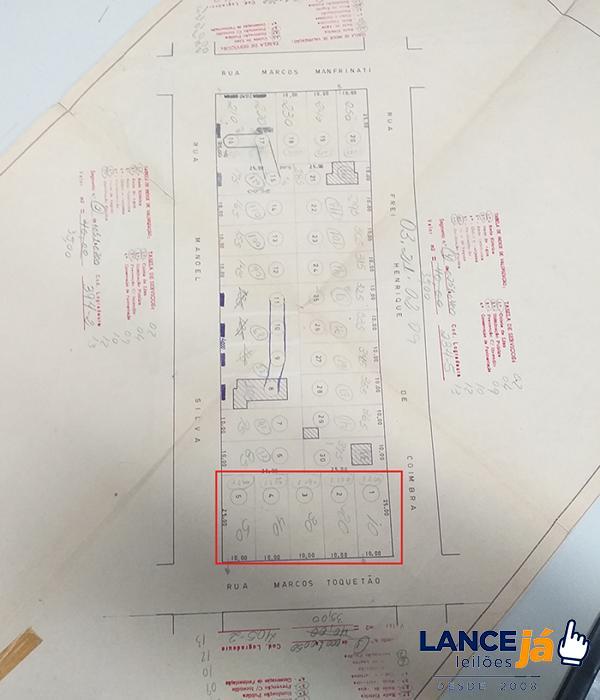 Área formada por 05 (cinco) terrenos, c/ área de 1.250 m² , Jardim Jussara, em Araçatuba/SP